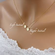 initial necklaces for layered initial necklace two discs gosia meyer jewelry