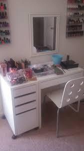 Ikea Micke Desk Makeup How Do You Store Your Samples Makeup Vanities General