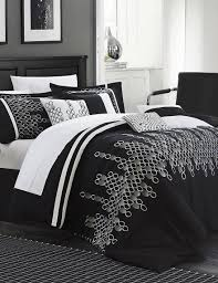 chic home design 12 pc laurie oversized black comforter set