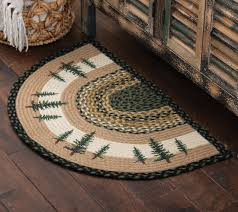 Small Round Braided Rugs Rustic Wildlife Rugs Including Moose And Bear Rugs Black Forest