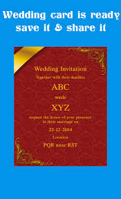 marriage card wedding invitation card application luxury wedding card maker