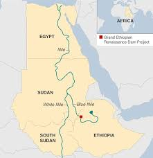 nile river on map and sudan sign deal to end nile dispute
