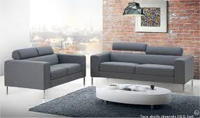 canap design canapé en tissu gris design 2 places style moderne grand confort