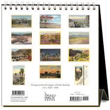 2018 easel desk calendar palm springs nostalgic 2018 easel calendar 9781680812367