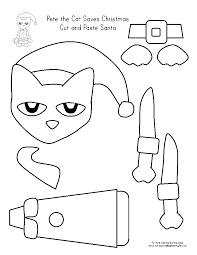 christmas color cut paste worksheets cut and paste christmas bear