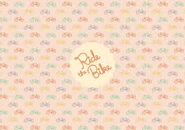 bicycle wrapping paper bicycle pattern background free vector stock