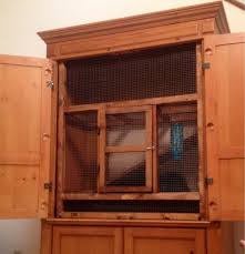 Rabbit Hutch Diy Old Entertainment Center Turned Into A Rabbit Cage Products