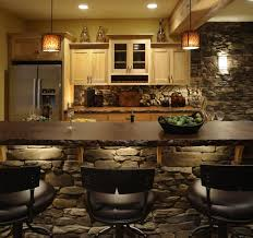 stacked stone kitchen island kitchen contemporary with leather bar