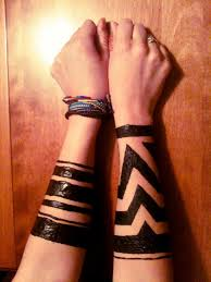 warrior tribal arm henna bands design for photoshoot by montreal