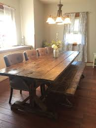 Long Table With Bench Best 25 Farm Table With Bench Ideas On Pinterest Kitchen Table