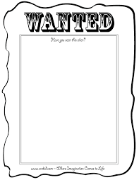 printable wanted posters for kids kids coloring