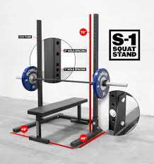 new rogue s 1 squat stand comes with bench 48