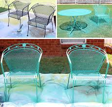 Iron Table And Chairs Patio How To Paint Patio Furniture With Chalk Paint