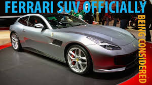 ferrari suv look this ferrari suv officially being considered youtube