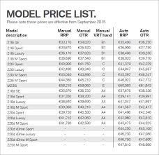 Wholesale Price Sheet Template 5 Price List Templates Word Excel Pdf Templates