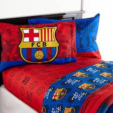 Soccer Comforter Barcelona U0027fcb Soccer U0027 Bedding Sheet Set Walmart Com
