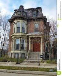 detroit old brick victorian home editorial image image 47109395