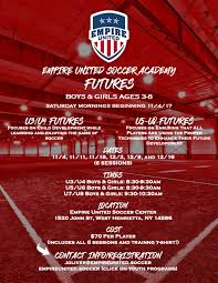 empire united futures program saturday soccer camp ages 3 8