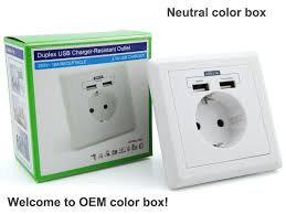 eu uk un type electrical socket 5v 2 1a elektronic wall socket