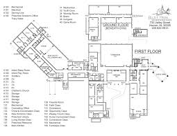 church of light floor plan map of facilities