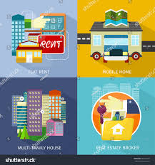 multifamily house mobile home flat rent stock vector 340137770