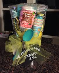 theme gift basket instant lemonade stand gifts pinterest