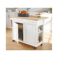 kitchen island wheels butcher block cart ebay