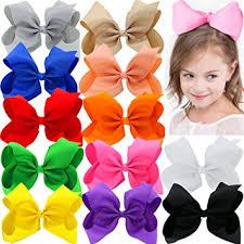 large hair bows 8 inches large grosgrain ribbon hair bows with