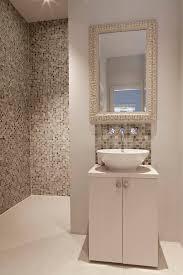 Beige Bathroom Tiles by Glossy Mosaic Backsplash Wall Tiles Bathroom Contemporary With