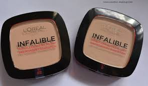 l oreal paris infallible 24h powder foundation review swatches demo new love makeup