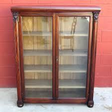 antique display cabinets with glass doors bookcase cabinet with glass doors vintage bookcase glass doors