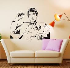 scarface movie tony montana wall decal decor sticker vinyl zoom