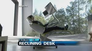 Recliner Computer Desk by Futuristic Reclining Workstation Youtube