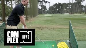 throwback steph curry hits driving range with sean evans youtube
