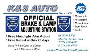 brake and light certificate brake and light