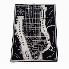 New York City Time Square Map by New York City Vintage Map Wool Throw U2013 The New York Public Library