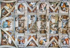 Ceiling Art A Flattened View Of The Incredible Sistine Chapel Ceiling