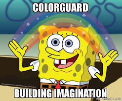 Color Guard Memes - thoughts with amanda colorguard memes