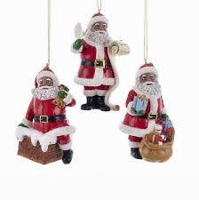american assorted santa claus ornament set by kurt adler