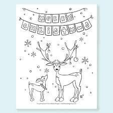 reindeer christmas coloring printable rudolph coloring