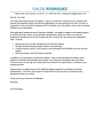Resume Cover Letters Samples by Best Executive Assistant Cover Letter Examples Livecareer