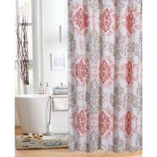 Orange Shower Curtains Coral Shower Curtain Free Home Decor Techhungry Us
