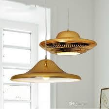 Gold Pendant Lighting Ufo Gold Pendant Lights American Style Drop Light Wrought Iron