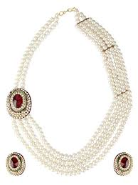 fashion pearl necklace set images Buy shining diva pearl necklace set jewellery set with earrings jpg
