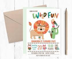 wild fun invitations woodland invitations woodland