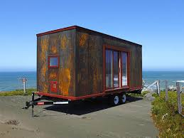 homes on wheels this tiny home on wheels by tumbleweed is clad in steel
