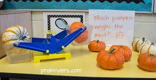 mini pumpkin math prekinders