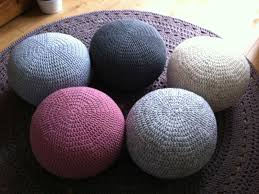 how to knit a pouf ottoman ebay