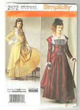 vogue 8195 steampunk goth pirate laceup ruffle bodice corset