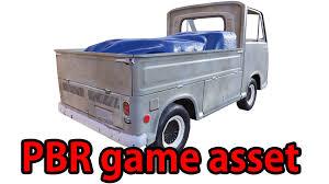 subaru mini truck 3d model pbr old minitruck lowpoly cgtrader